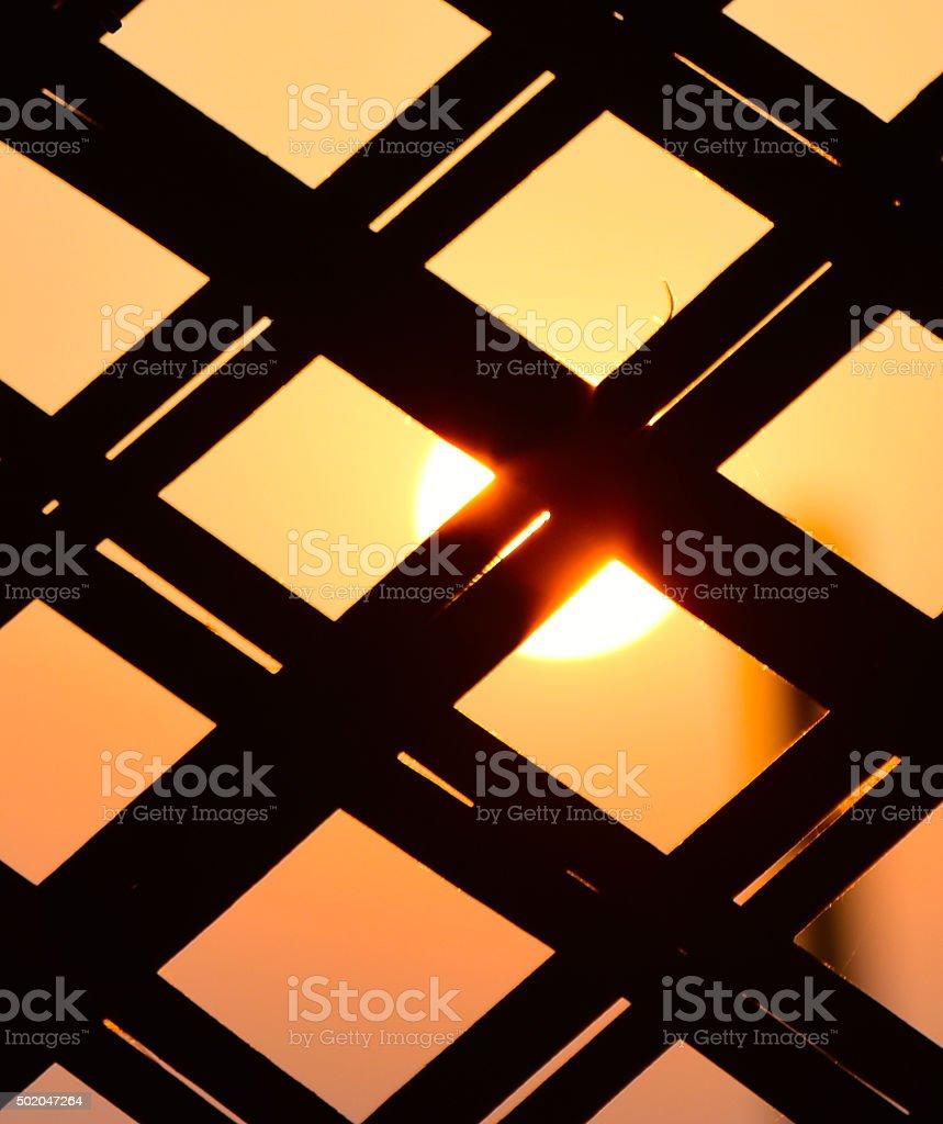Beautiful sunset with object background photograph stock photo
