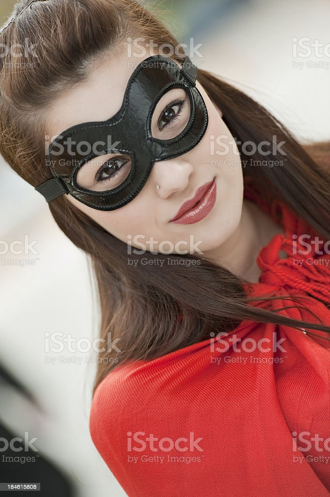Beautiful Superheroe royalty-free stock photo