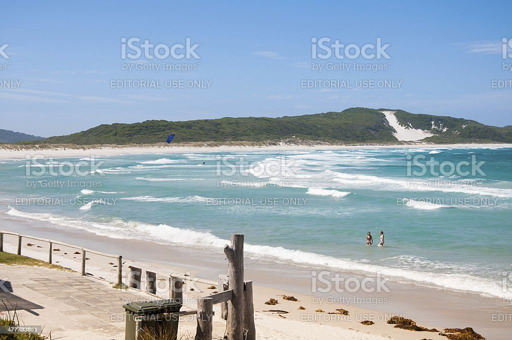Beautiful Surfing Beach in Denmark, Western Australia royalty-free stock photo