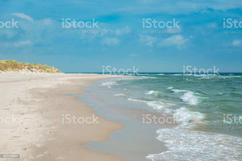Beautiful Swedish beach stock photo
