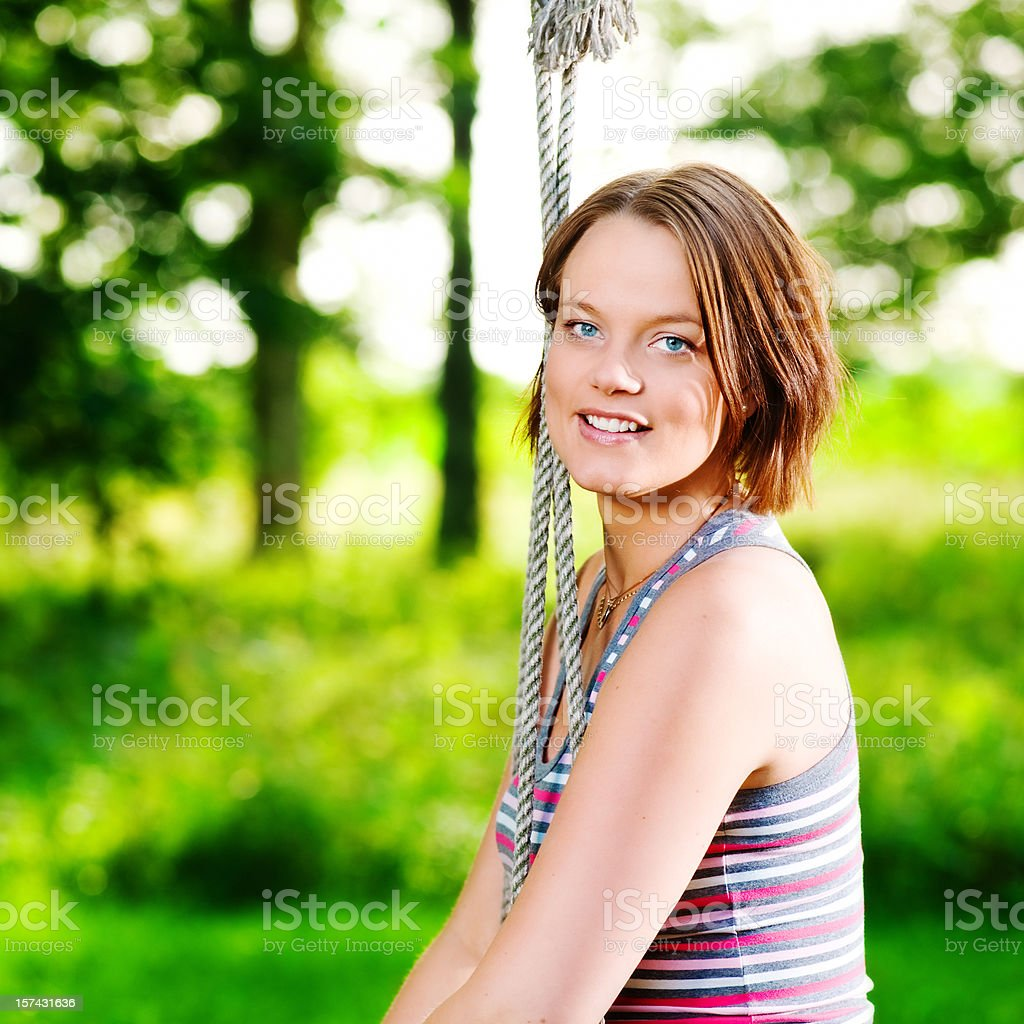 Beautiful swedish woman outdoors royalty-free stock photo