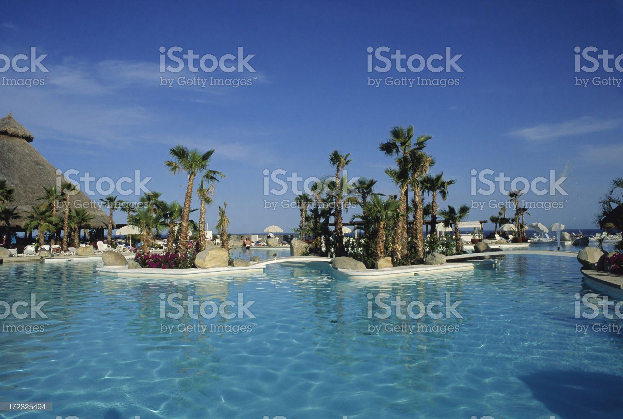 Beautiful Swimming Pool royalty-free stock photo