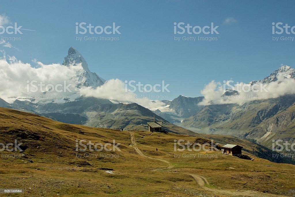 Beautiful Switzerland, with view on Matterhorn stock photo