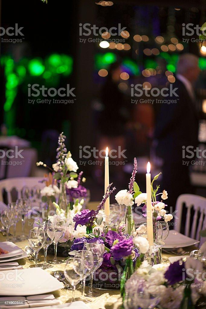 Beautiful table setting stock photo