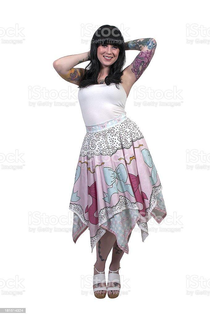 Beautiful Tattooed Woman stock photo