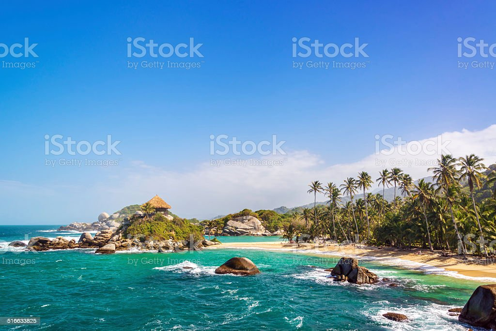Beautiful Tayrona Beach stock photo