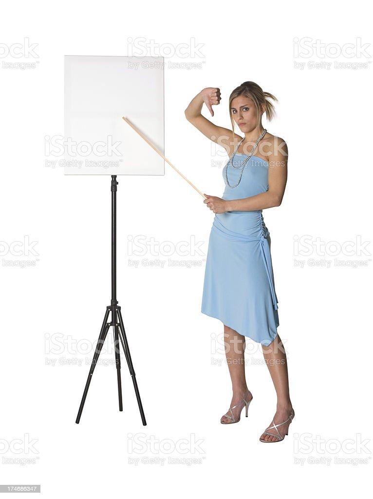 'beautiful teacher, billboard girl' stock photo