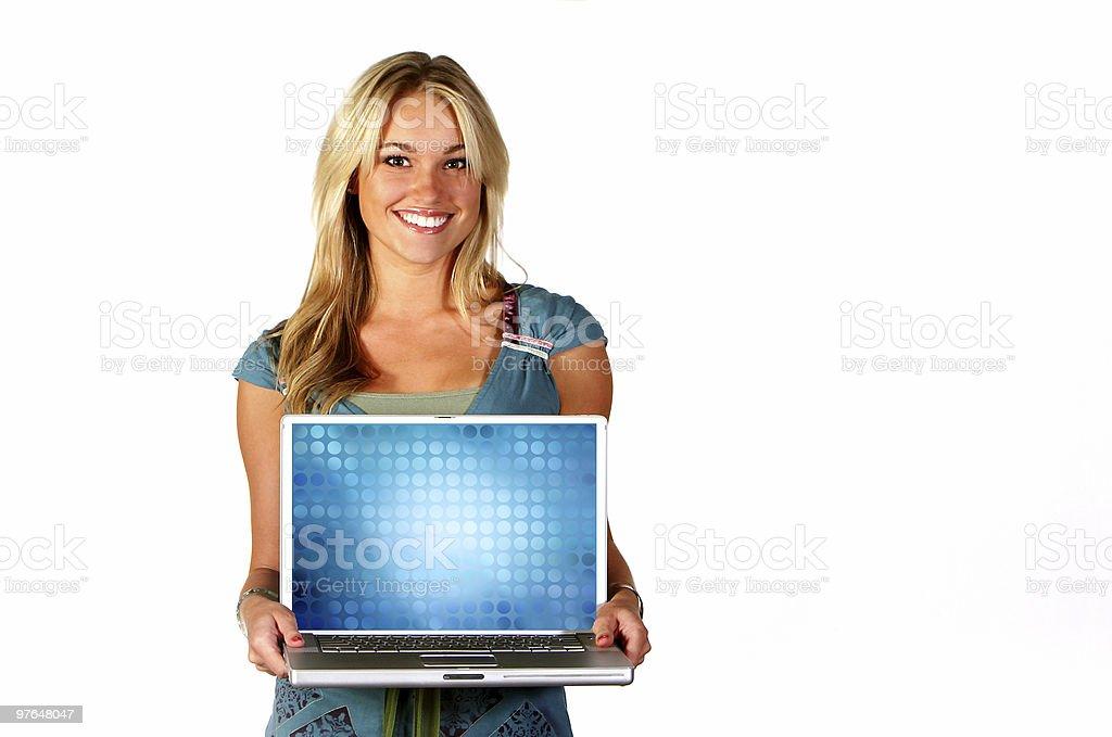 beautiful technology portraits stock photo