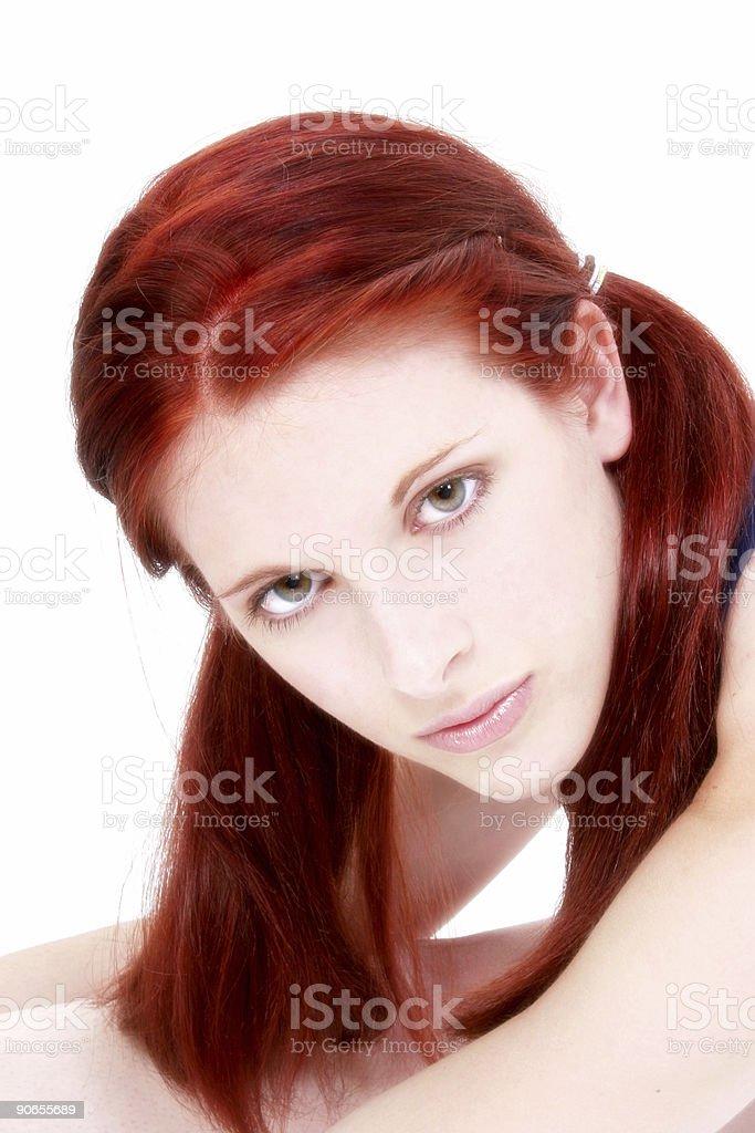 Beautiful Teenage Girl Close Up royalty-free stock photo