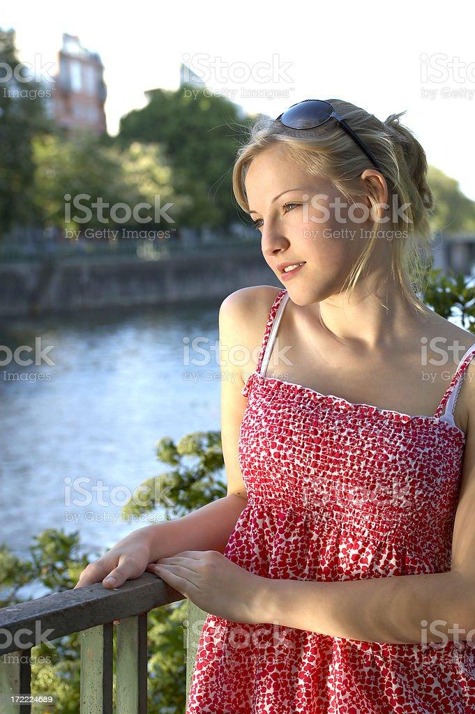 Beautiful teenage girl. stock photo
