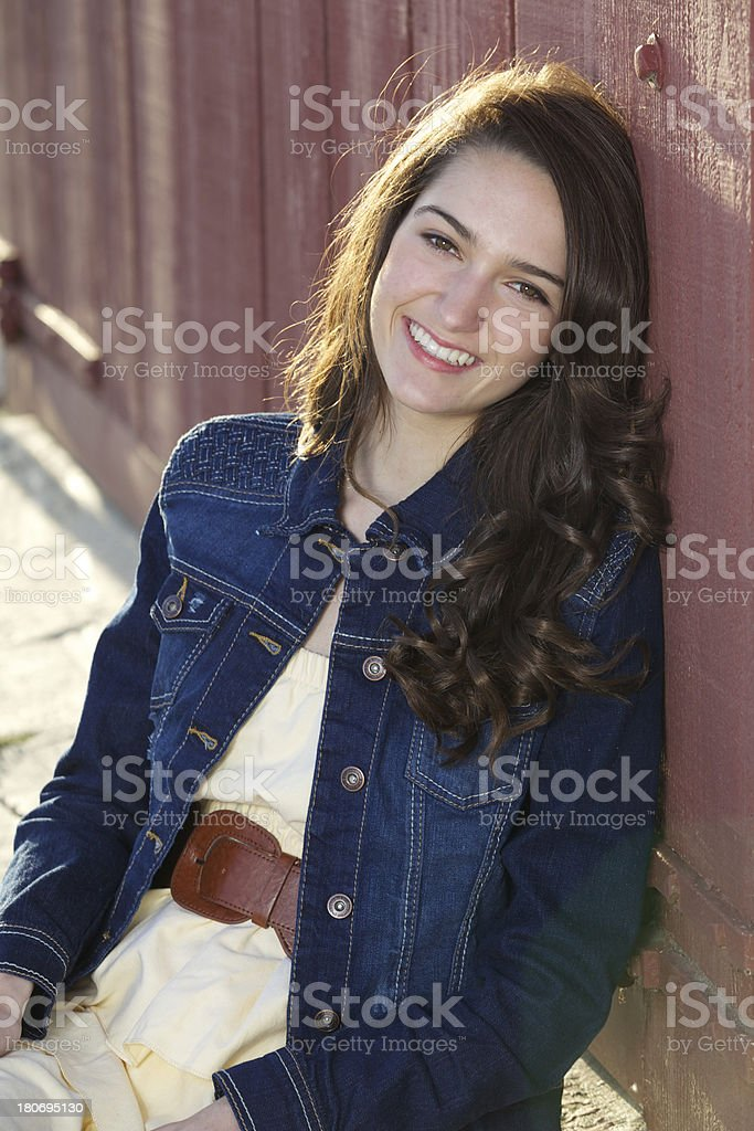 Beautiful Teenage Girl Portrait Outdoors royalty-free stock photo