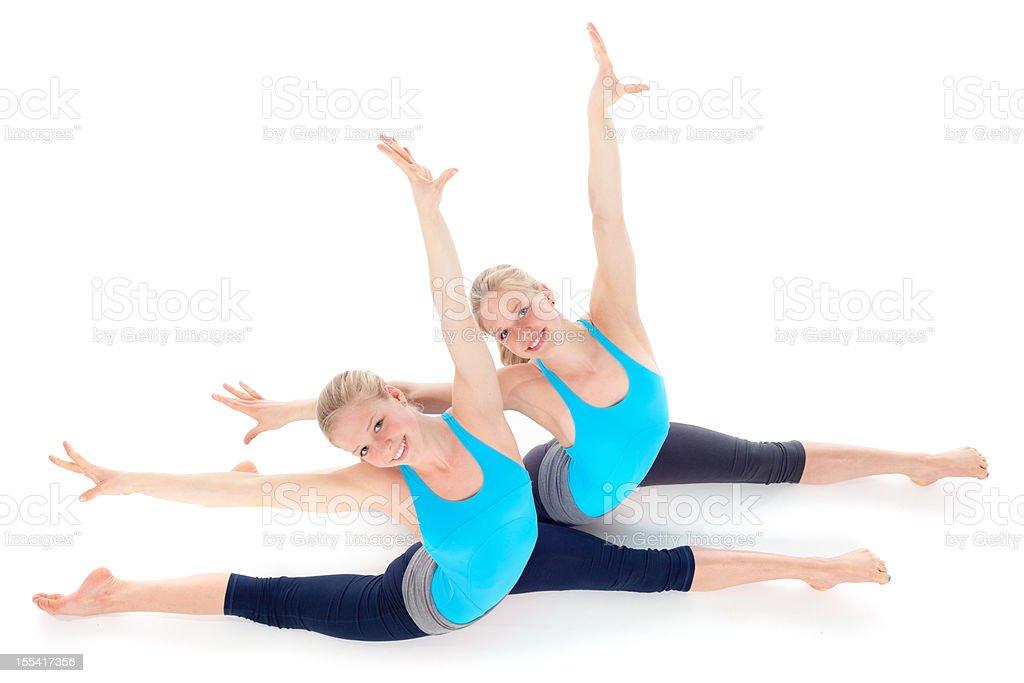 beautiful teenage girls gymnastics royalty-free stock photo