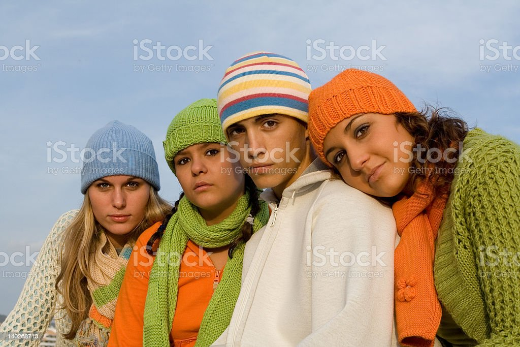 beautiful teenagers(SEE below for more group images) royalty-free stock photo