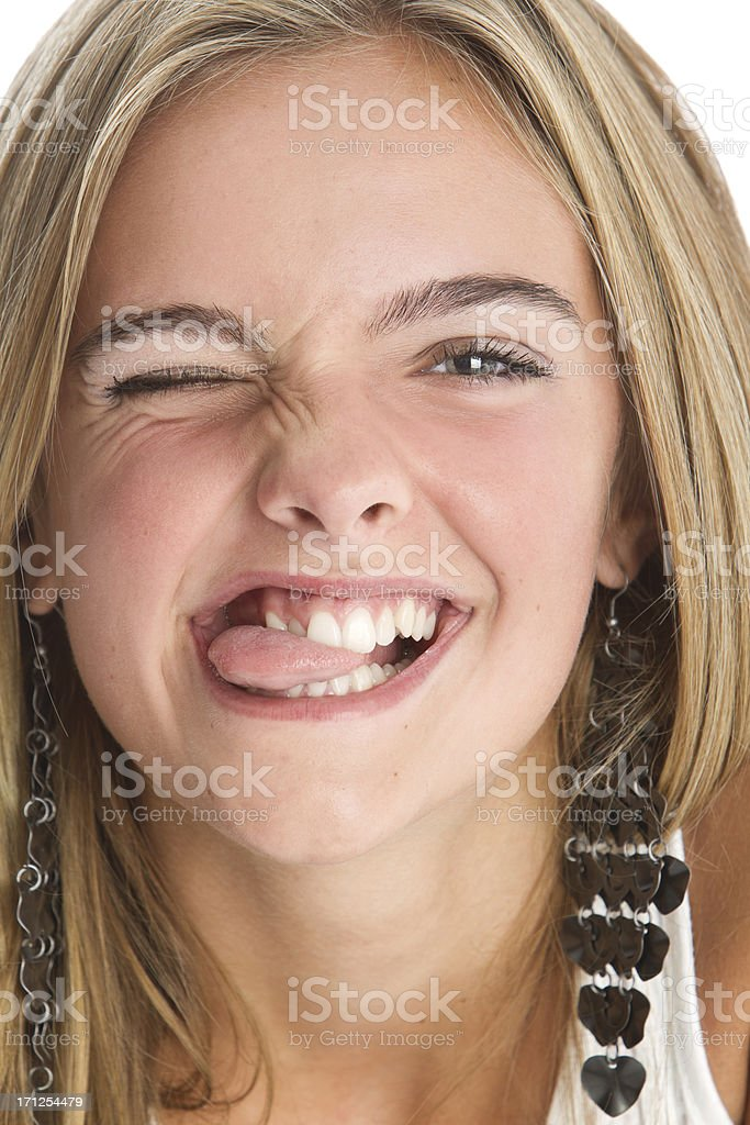 Beautiful teen's close-up royalty-free stock photo