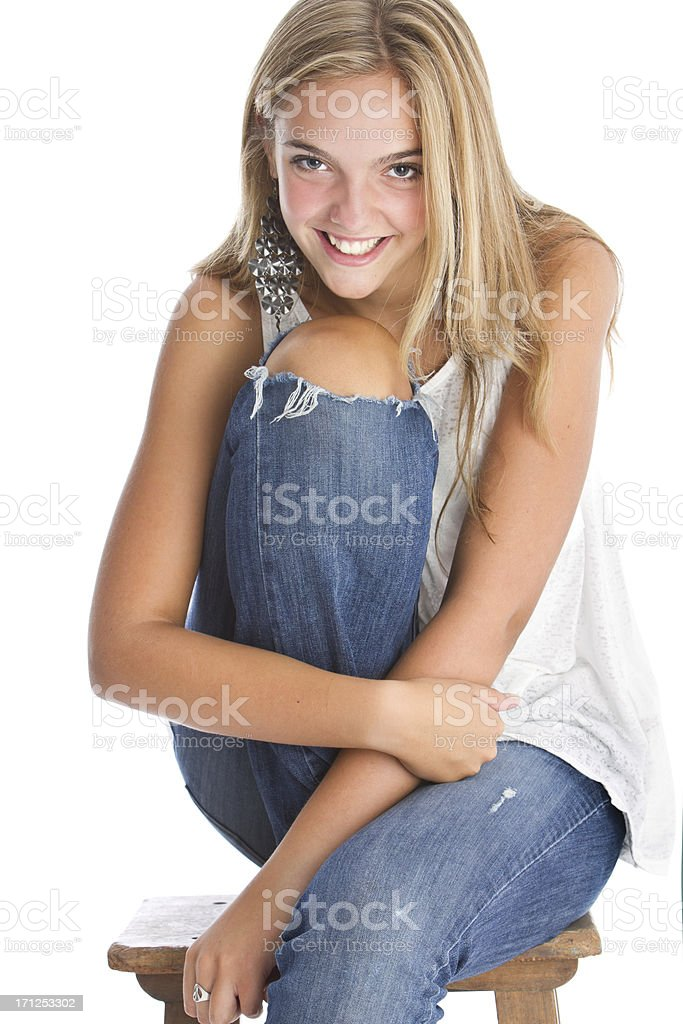 Beautiful teen's portrait royalty-free stock photo