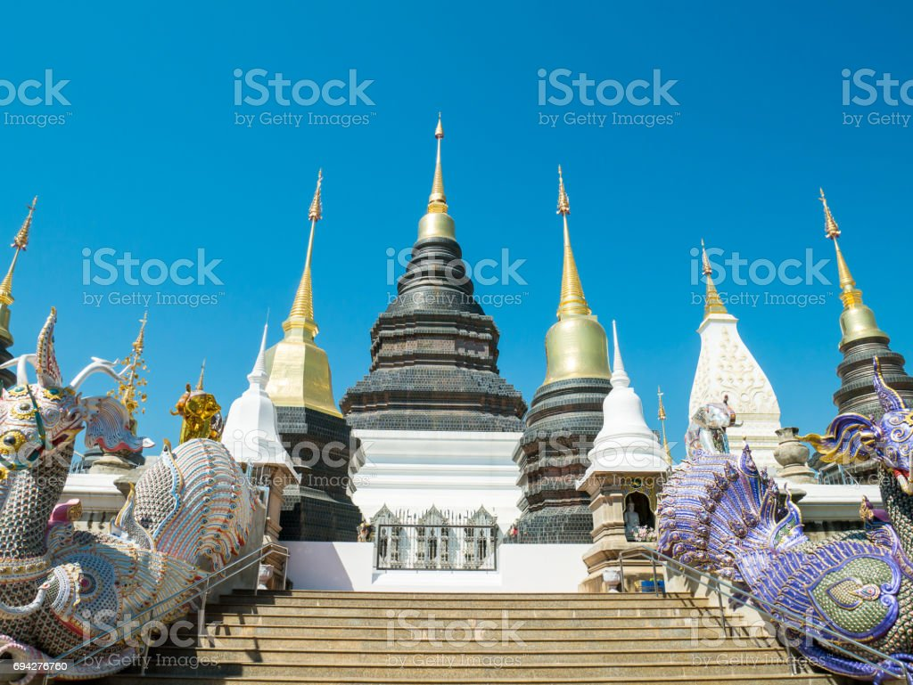 Beautiful temple in Chiangmai,Thailand stock photo