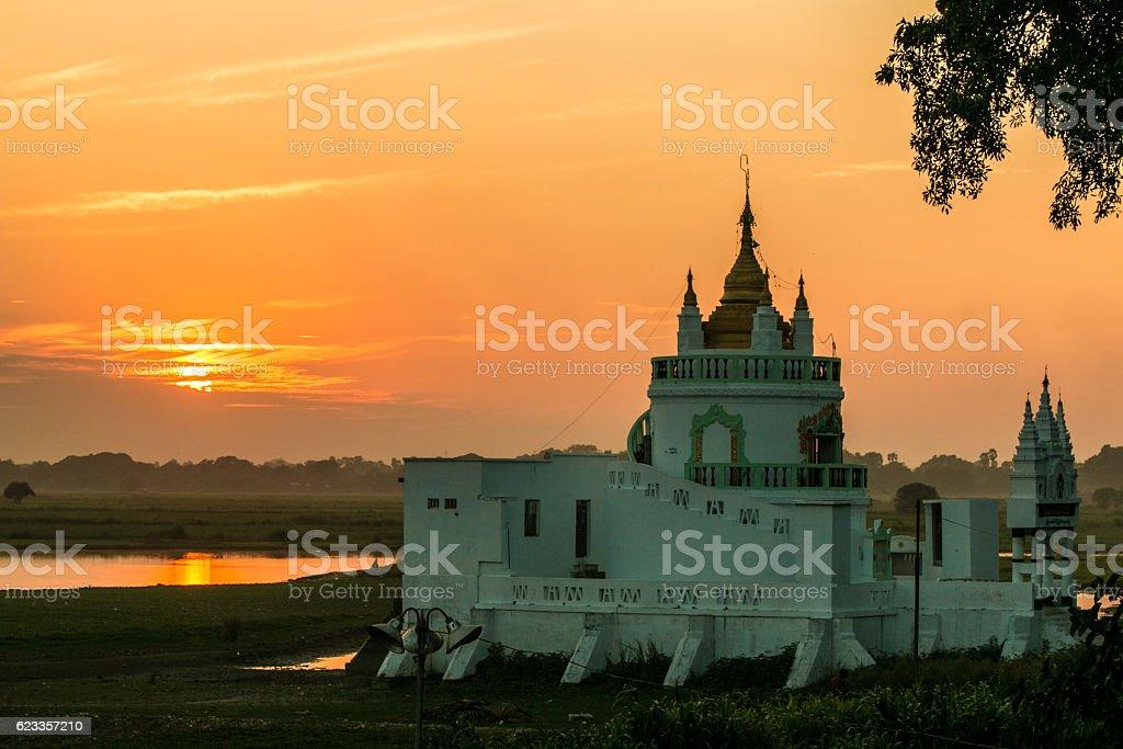 Beautiful temple of Myanmar stock photo