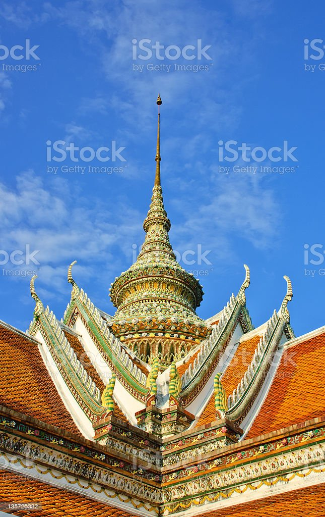 Beautiful temple roof royalty-free stock photo