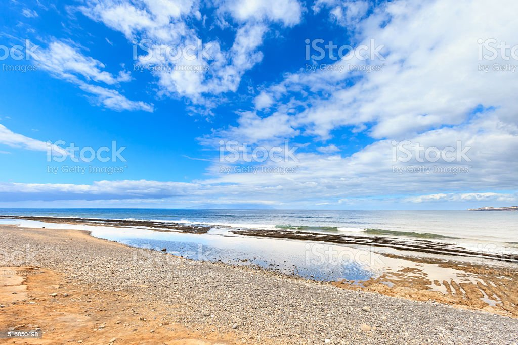 Beautiful Tenerife landscape - Las Americas stock photo