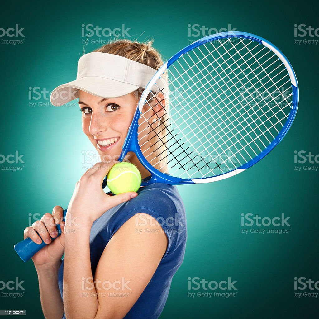Beautiful tennis player royalty-free stock photo