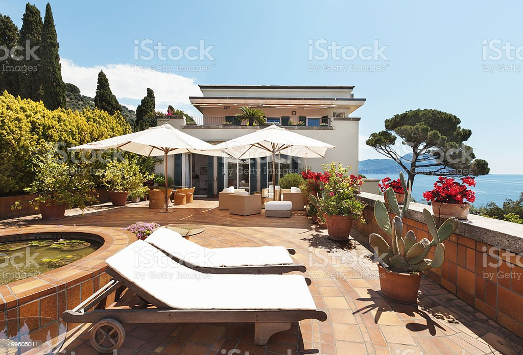 Beautiful terrace royalty-free stock photo
