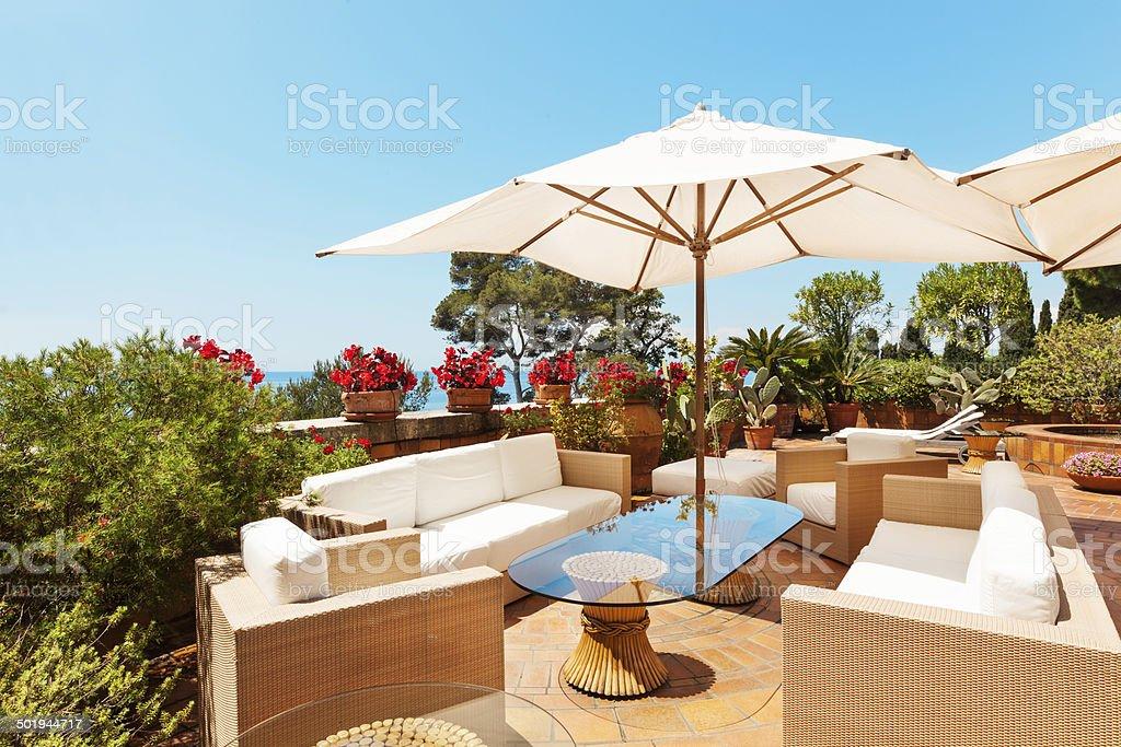 Beautiful terrace stock photo