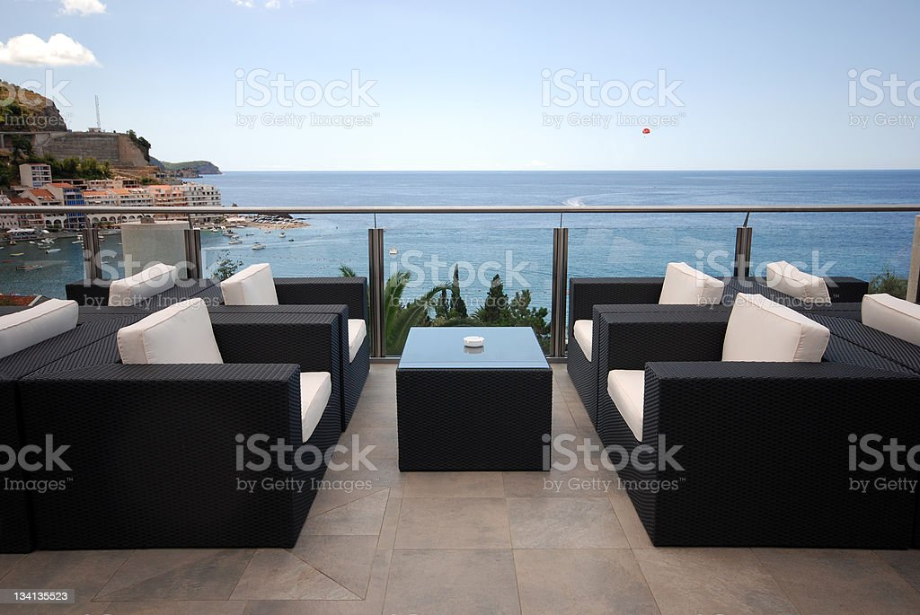 A beautiful terrace view of the Mediterranean seascape  royalty-free stock photo