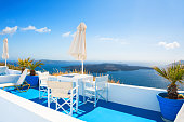 Beautiful terrace with sea view.