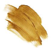 Beautiful textured dark golden strokes