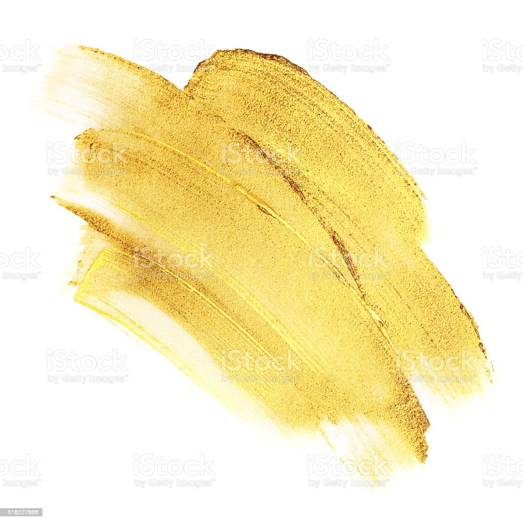 Beautiful textured golden strokes stock photo