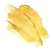 Beautiful textured golden strokes