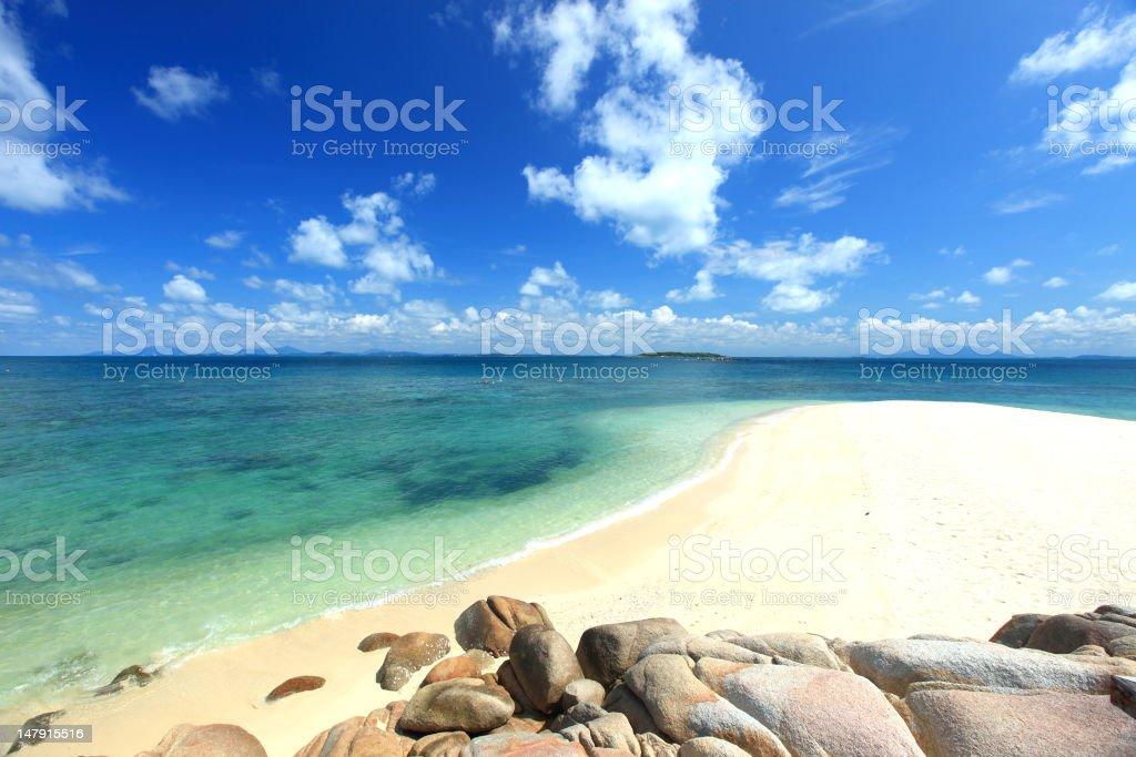 Beautiful thailand beach stock photo