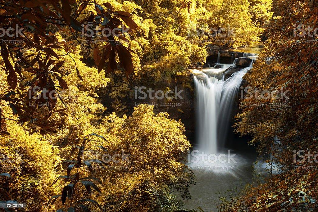 Schöner Wasserfall in Thailand Lizenzfreies stock-foto
