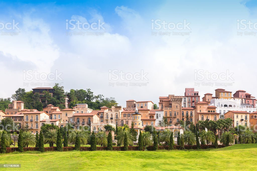 Beautiful the historic city of Toscana Valley at daylight. stock photo