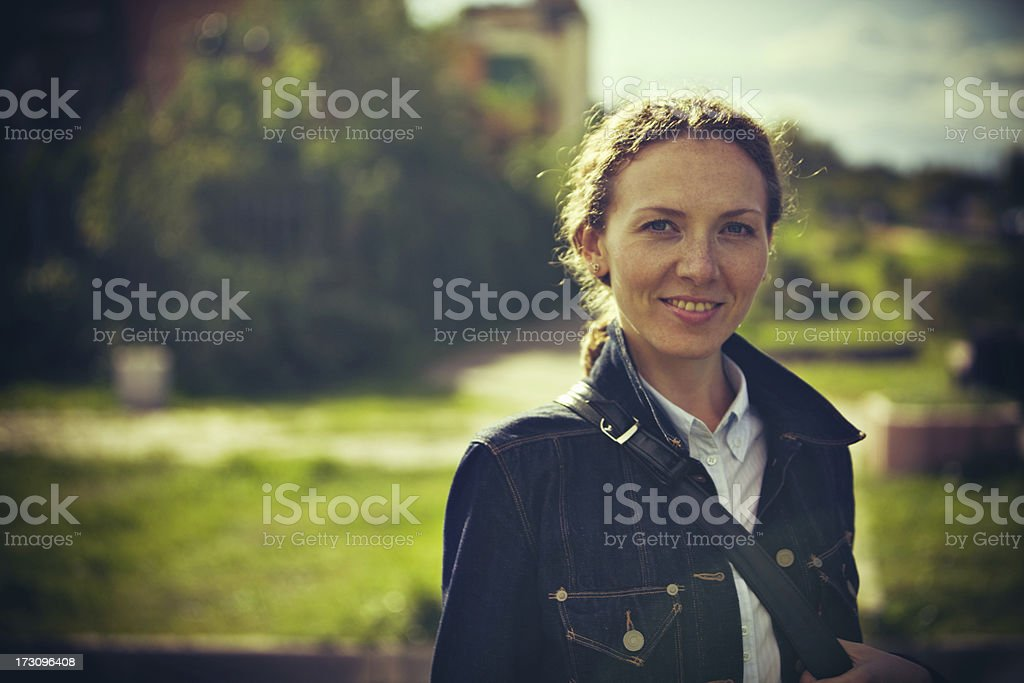 Beautiful Thirty Years Old Woman Portrait royalty-free stock photo