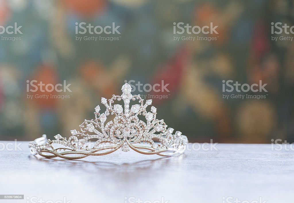 Beautiful tiara stock photo