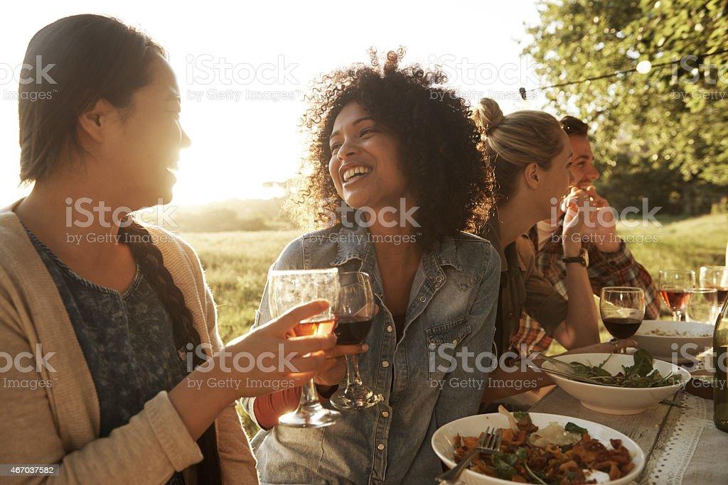 Beautiful times with beautiful people stock photo