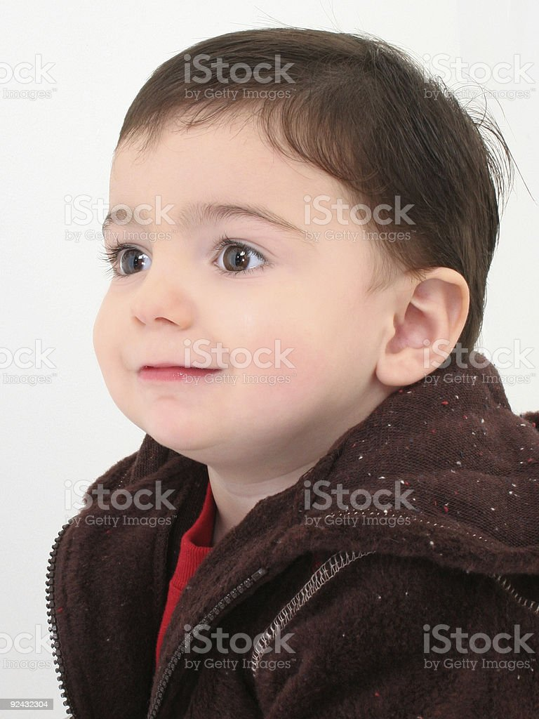 Beautiful Toddler Boy Profile royalty-free stock photo