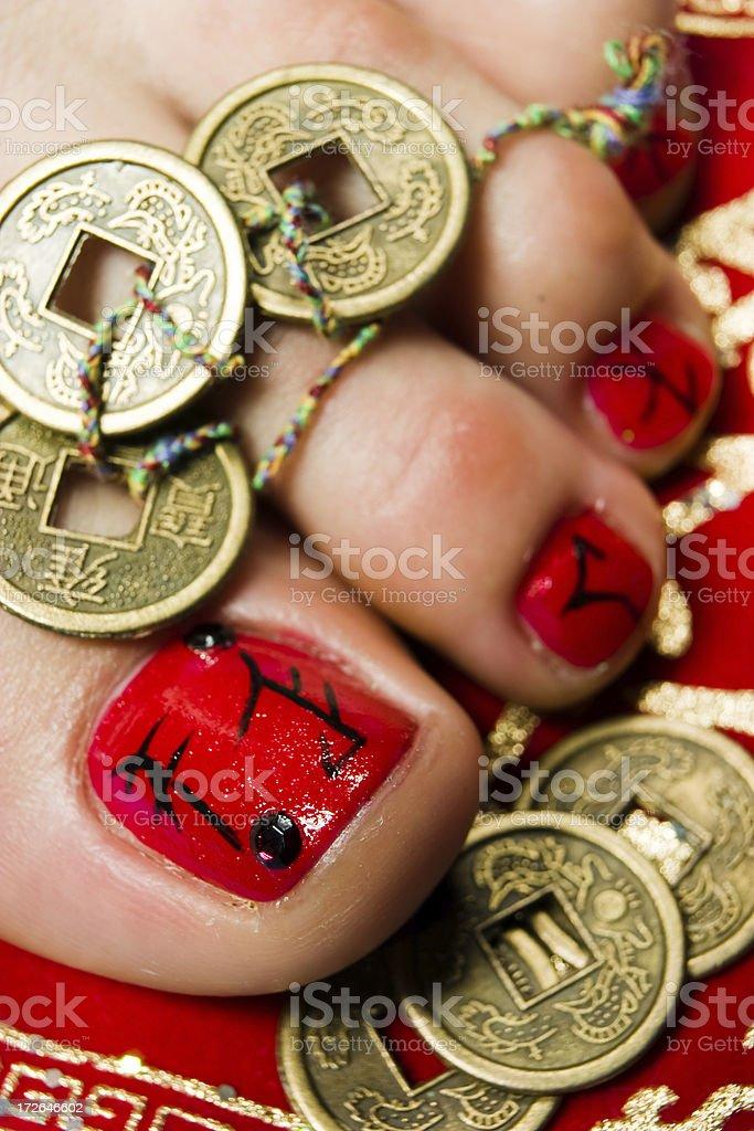 Beautiful toenail royalty-free stock photo