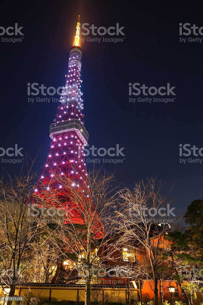 Beautiful Tokyo Tower in Night royalty-free stock photo