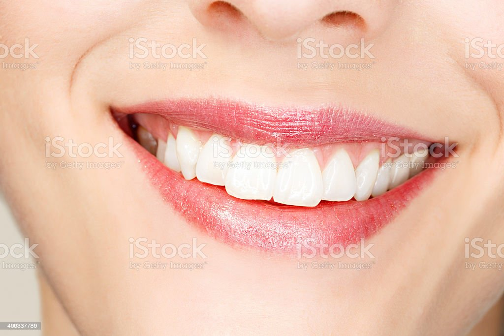 Beautiful Toothy Smile  Beauty Portrait   Happy smiling  Dynamic women stock photo