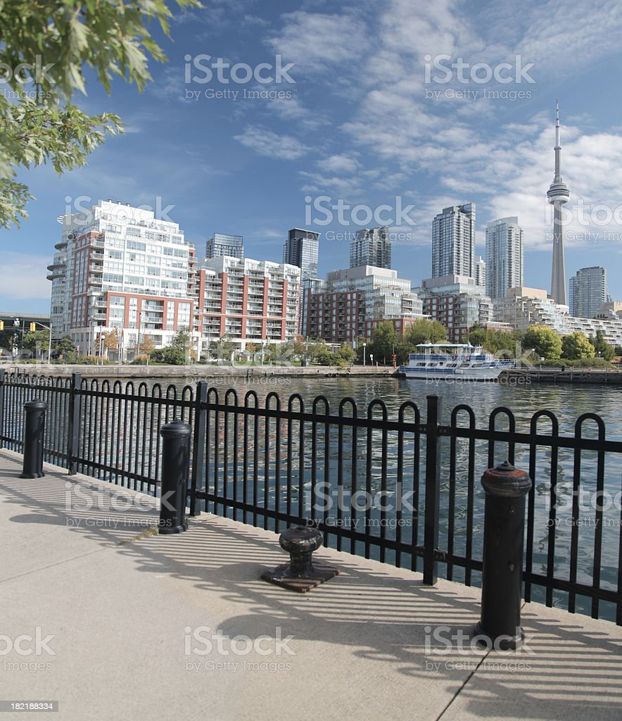 Beautiful Toronto City Lakeshore stock photo