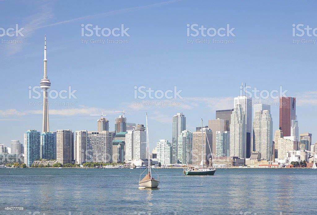 Beautiful Toronto City Summer Waterfront stock photo