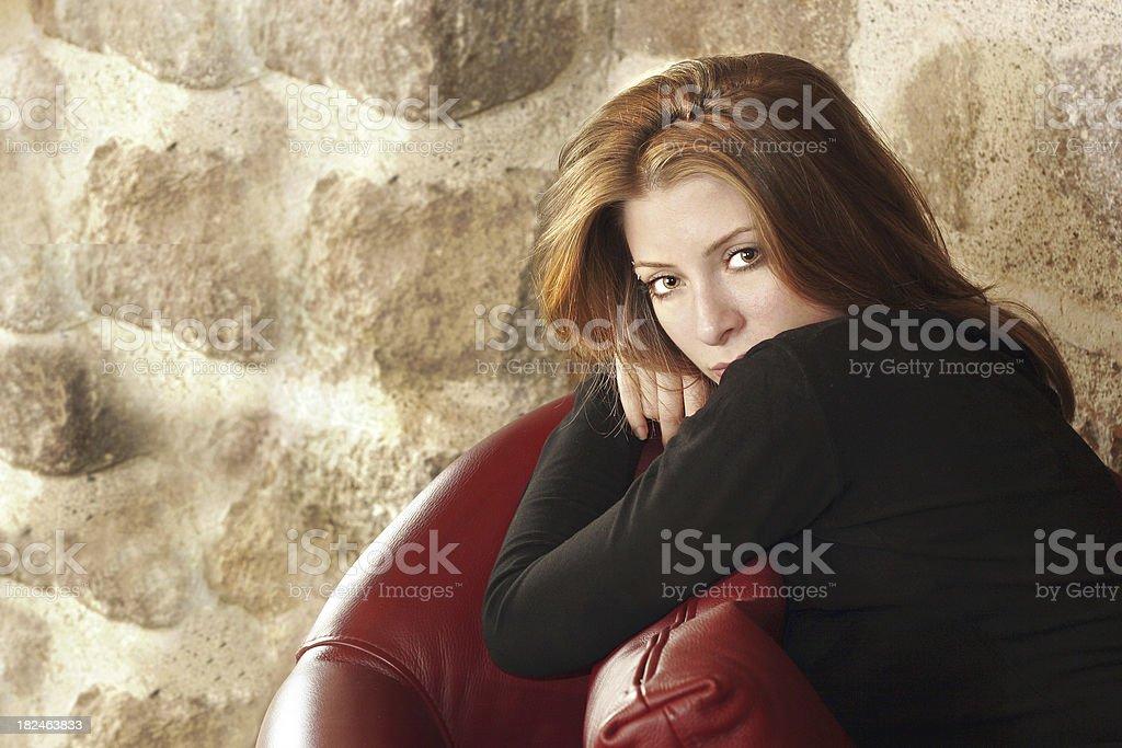 Beautiful Tough-looking Young Girl stock photo
