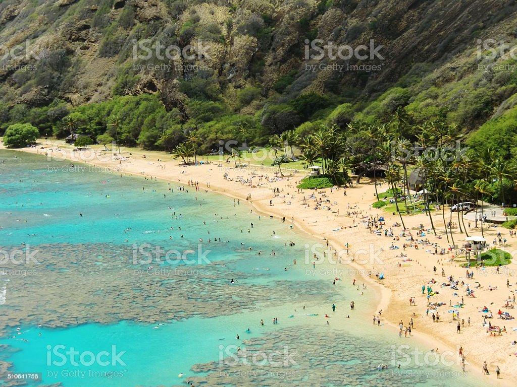 Beautiful touristic Beach stock photo