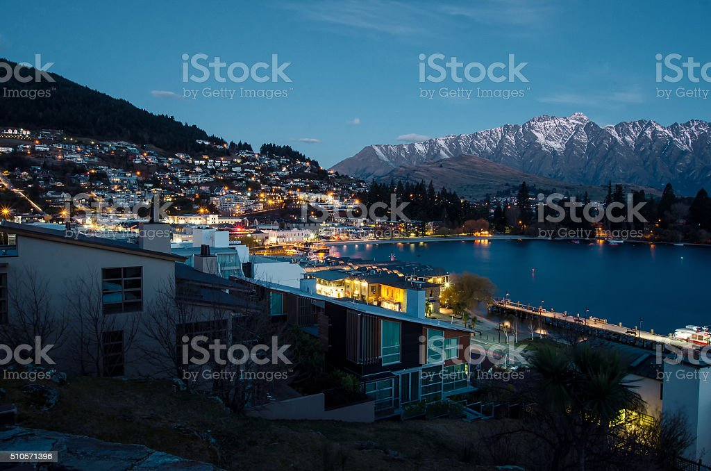 Beautiful Town stock photo