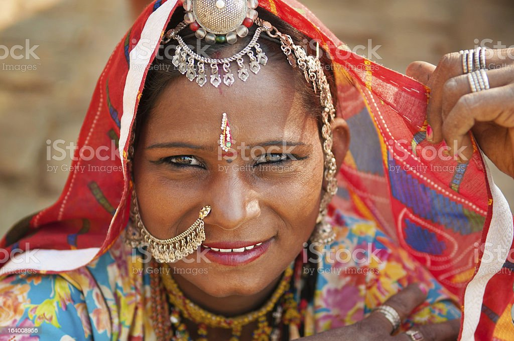 Beautiful Traditional Indian woman stock photo
