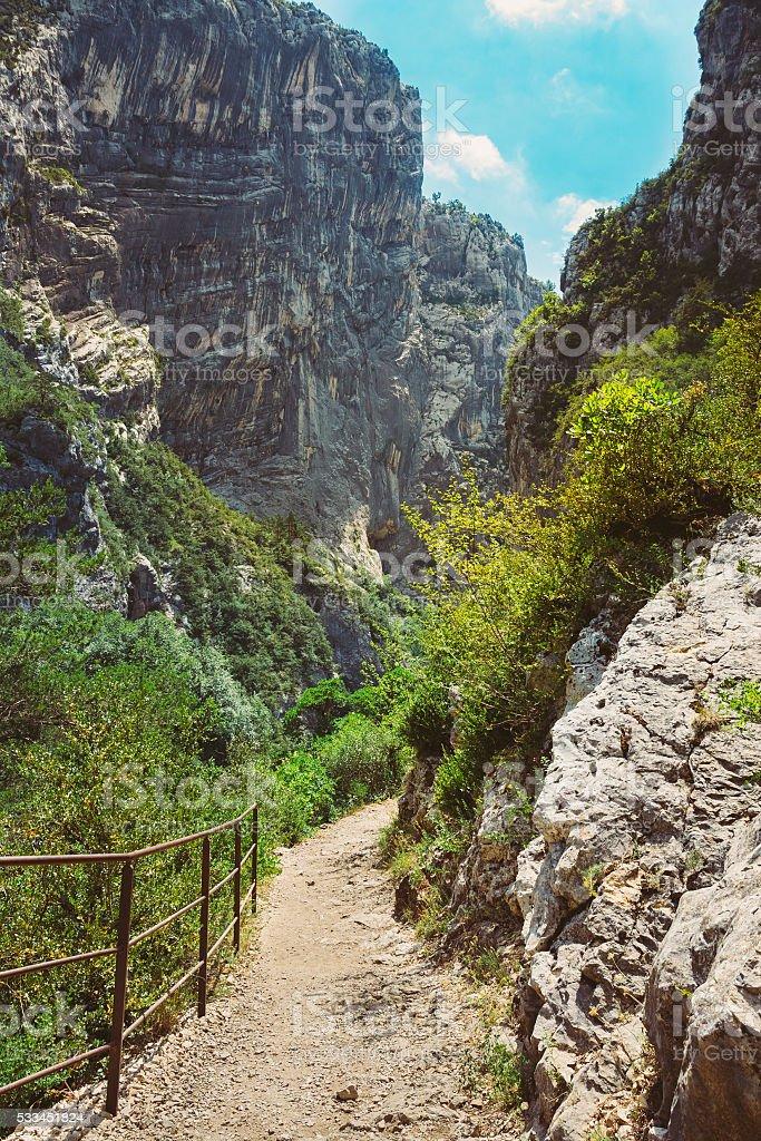 Beautiful trail, path, way, mountain road stock photo