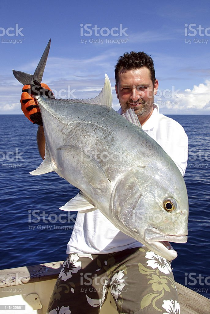 Beautiful trevally jack stock photo