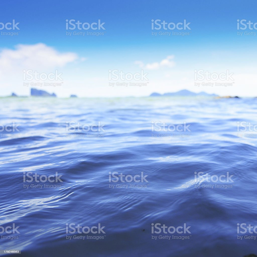Beautiful tropical beach against the sea and sky. royalty-free stock photo